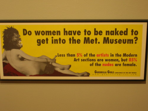 Do women have to be naked to get into the Met?